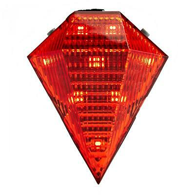 Rechargeable Cycling Bike Bicycle Diamond 8 LED Tail Light Rear 2 Laser Lamp Red