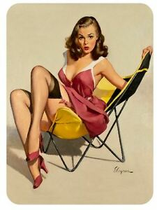 Vintage Style Pin Up Girl Sticker P47 Pinup Girl Sticker