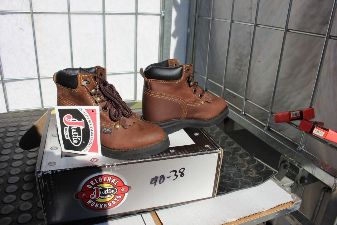 40-43 New  ld 12D Justin Aged Bark   lace up work boots was 89.00  new style
