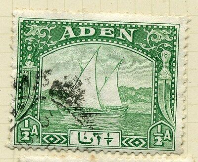 Obliging Aden; 1937 Early Dow Issue Fine Used Value 1/2a. Stamps