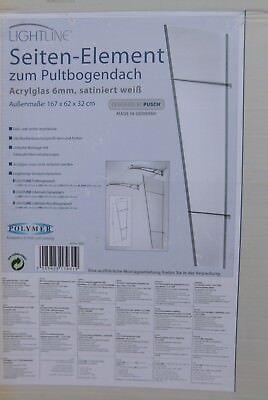 Fassade Nachdenklich Polymer Seitenteil 167 X 62 X 32 Cm Pultbogenvordach Satiniert Weiß 170931 In Vielen Stilen Baustoffe & Holz