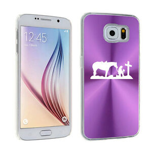 For-Samsung-Galaxy-S7-S4-S5-S6-Edge-Hard-Case-Cowgirl-Praying-Cross-Horse