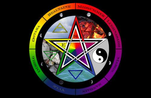 photo poster art wiccan nature magic sorcière Encadrée imprimer-wicca pentagramme