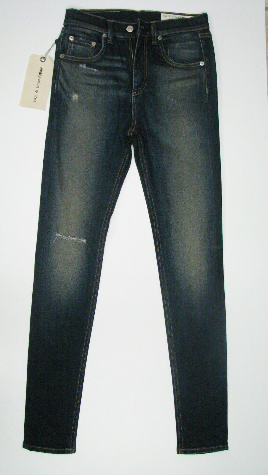 3c16f6d0 Rag & Bone Women New Jeans Denim Skinny Dark bluee Cotton High Rise  Boyfriend 26