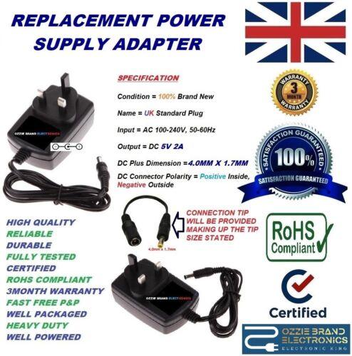 UK 5V ADAPTER CHARGER TO FIT KODAK EASYSHARE DIGITAL CAMERA V603 V610 V705 V803