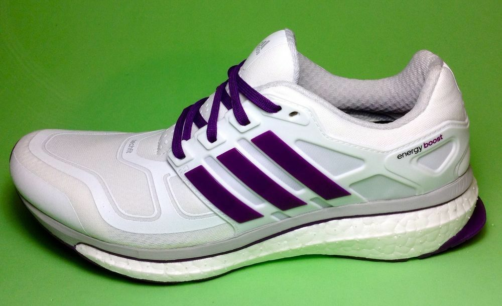ADIDAS ENERGY BOOST 2 WOMEN'S RUNNING SHOES RUN WHITE PURPLE METSIL D73882