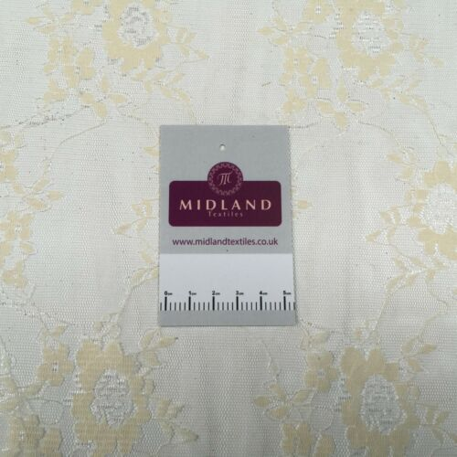 Crème Floral Dentelle robe de tissu 150 cm M186-57 Mtex
