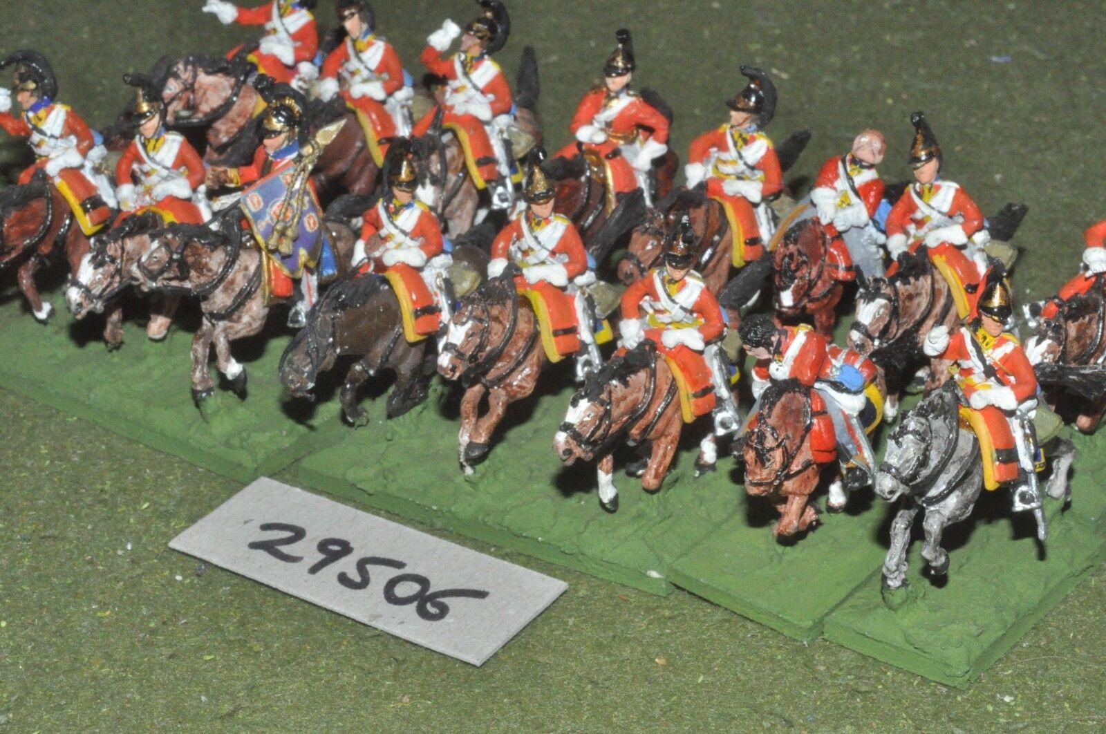 25mm napoleonic   british - dragoons 16 figures - cav (29506)