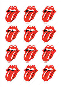 Image Is Loading Novelty The Rolling Stones Logo Lips Edible Cake
