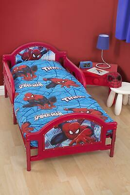 Bello Spiderman City Junior Rotante 4 In 1 Biancheria Da Letto Fascio Copripiumino Thwipp-