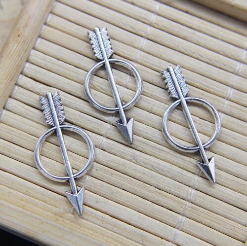 Lot 30//50//100pcs Retro Arrow Alloy Charms Pendant Jewelry Making DIY 28*13mm