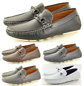 Mens flat slip on shoes casual comfort light weight shoes size 6-11