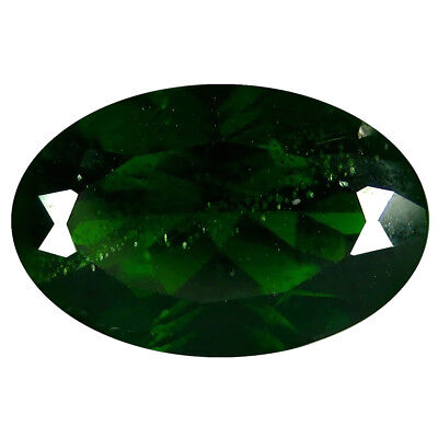 2,57 Ct Eye-opening Ovale Form (11 X 7 Mm) Green Chrom Diopsid