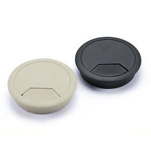 Two-Color-PC-Computer-Desk-Table-Plastic-Grommet-Cable-Tidy-Wire-Hole-Cover-EBA