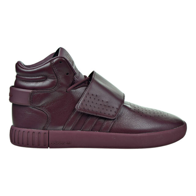 adidas Tubular Invader Strap Mens Bw0873 Maroon Burgundy Leather ... 826900da2