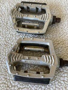 Shimano-PD-MX15-platform-1-2-Pedals-Vintage-OLD-SCHOOL-BMX-Pedals-Silver