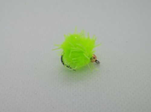 "/""Chartreuse/"" Buggy McEggit  eggstacy egg flies set of 3"