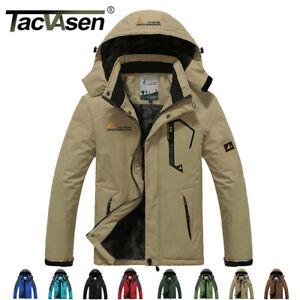 98f5770be5f Image is loading TACVASEN-Fleece-Lining-Winter-Jacket-Warm-Outwear-Outdoor-