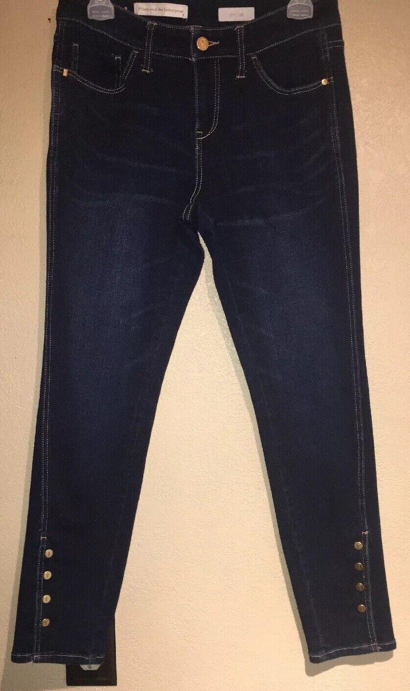 Anthropologie Pilcro and the Letterpress Dark Denim Skinny Jeans 28 EUC