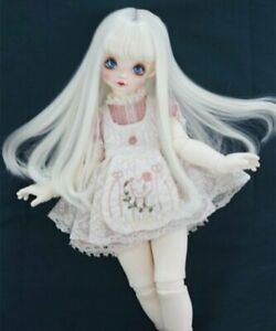 Bjd Doll Wig 1//6 6-7 Dal Pullip AOD DZ AE SD DOD LUTS Dollfie white Toy Hair