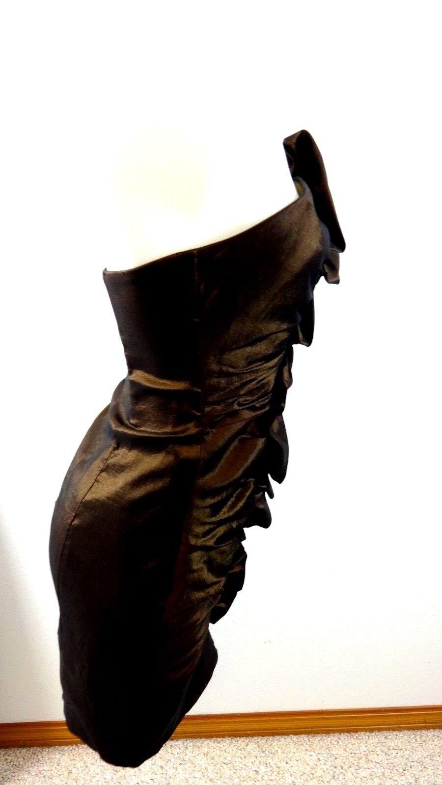 JESSICA MCCLINTOCK WOMENS METALLIC BROWN STRAPLES… - image 2