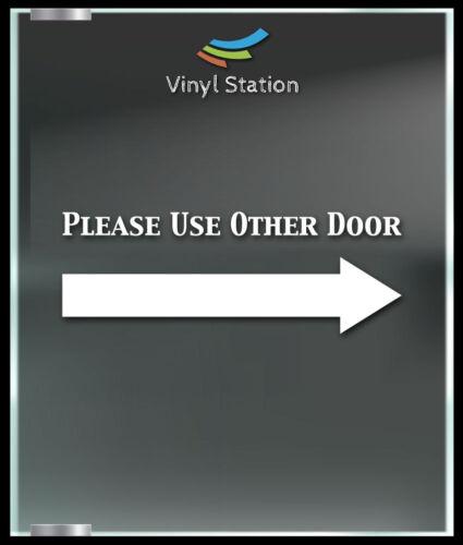 Please Use Other door Business Store Sign Vinyl Decal Sticker Window Door