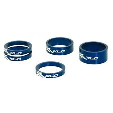 "1""1/8 XLC Blue Alloy Headset Spacers  x 5"
