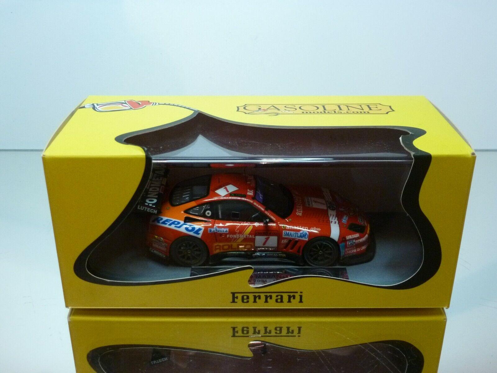BBR GASOLINE MODELS FERRARI 550 24h SPA 2004 SCUDERIA ITALIA - 1 43 -MINT IN BOX