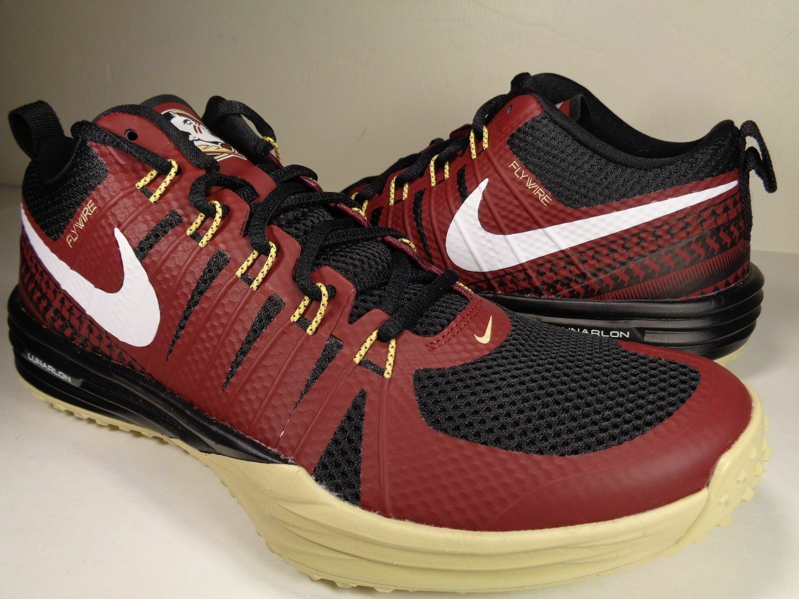 Wild casual shoes Nike Lunar TR1 NRG FSU Florida State Seminoles Garnet Gold 654283-706 Price reduction
