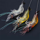 3pc Outdoor Fishing Lures Crankbaits Hooks Minnow Baits Tackle Bait Soft Shrimp