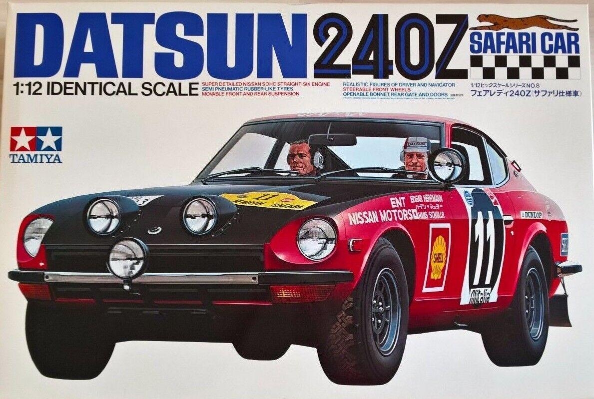 Datsun 240Z Safari 1971 Tamiya Escala 1:12 Kit 08-7500  Nuevo  Como Nuevo Raro
