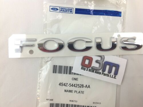2005-2007 Ford Focus Rear Chrome Trunk Lid Focus Emblem Nameplate new OEM