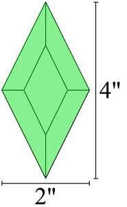 2x4 Diamond Bevels - Box of 30 - GREEN