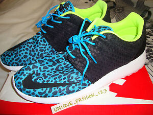 okspo NIKE ROSHE RUN FB BLUE LEOPARD US 12.5 UK 11.5 47 580573-402 URBAN