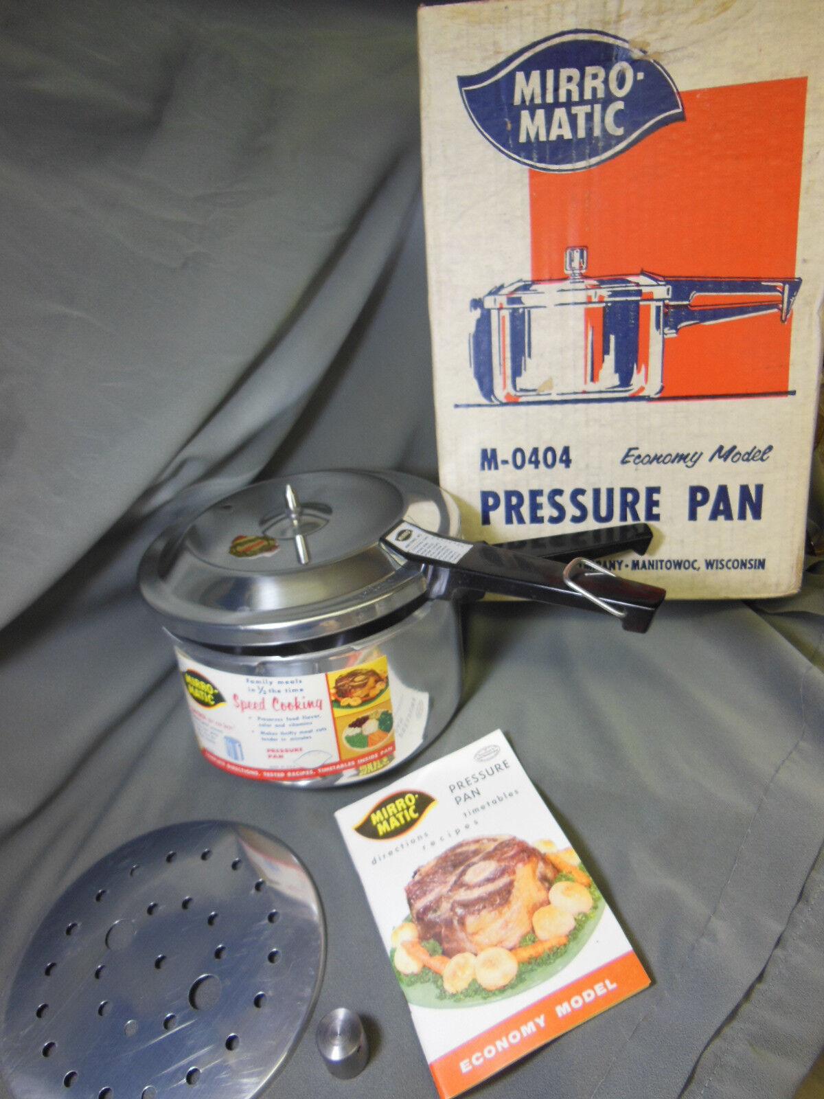 Mirro-Matic M-0404 PRESSURE PAN Economy Model w  Instructions  NOS 1961  NEW