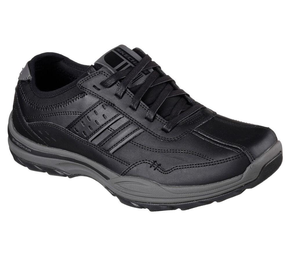 NEW SKECHERS Men Sneakers Trainers Oxford Memory Foam ELMENT- MERON black