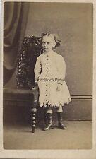 Jeune fille par James Bowman Glasgow Ecosse Carte de visite Vintage albumine