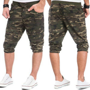 Mens-Camouflage-Running-Shorts-Gym-Sport-Jogger-Sweatpant-Dance-Yoga-Lounge-Pant