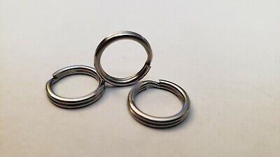 50 PACK 100# test 12mm ROSCO Stainless Steel Split Rings Size 7