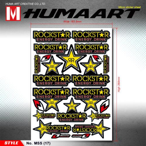 Universal Vinyl Decals MX Sticker Sheet Motorcycle Car Van ATV Snowmobile Helmet