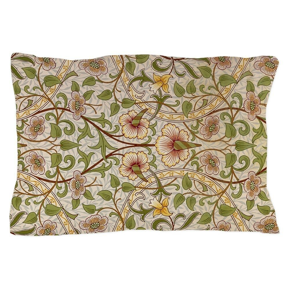 1274886613 CafePress William Morris Greenery Pillow Case