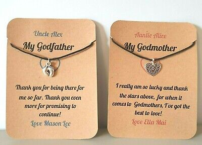 Keepsake,Gift Godmother Card Godfather PERSONALISED Thank You Godparent