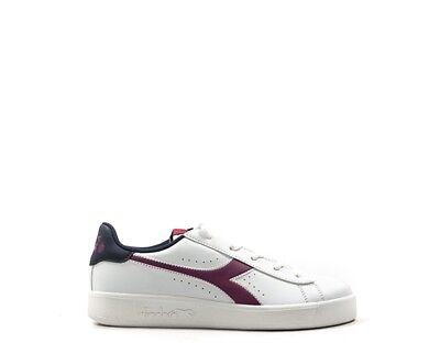 Accurato Scarpe Diadora Bambini Sneakers Trendy Bianco Pelle Naturale 172335-c7039 Non-Stireria