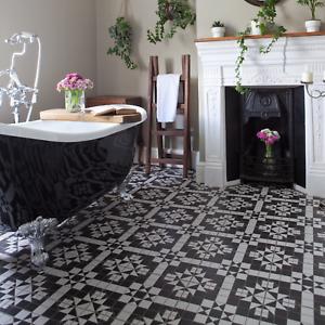 Belgravia Black White Victorian Style, Victorian Floor Tiles Bathroom