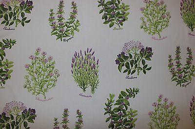 Wind curtain fabric design Fraser lavender/pink 2 metres botanical plants