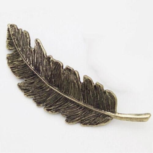 Legierung Schick Schmuck Haarnadel Silber Feder Blatt Haarspange Haar-Zubehör