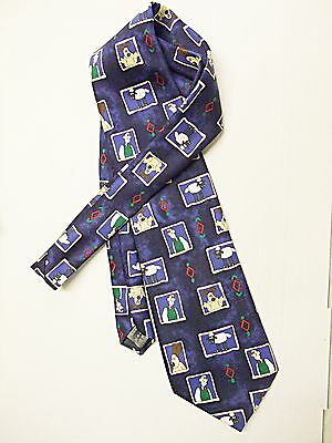 'wallace & Grommit Novelty Tie By Marks & Spencers Blue & Multi Very Subtle Attraktive Designs;