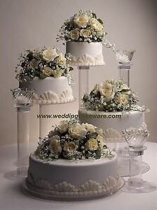 4-TIER-CASCADING-WEDDING-CAKE-STAND-STANDS-3-TIER-CANDLE-STAND-SET