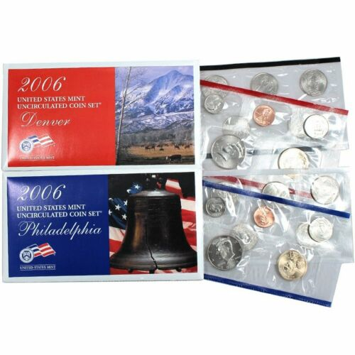 2006 P /& D US Mint Set United States Original Government Packaging Box Cello