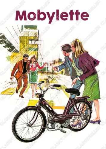 Mobylette Moby Motobecane Moped Poster Plakat Bild Schild Deko Literatur Affiche